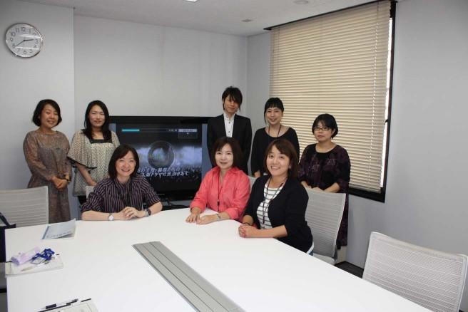 NEPライツ事業「映像の世紀プロジェクト」チーム8名(筆者は前列中央)