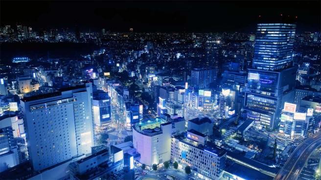 作品のワンシーンより 夜の渋谷の情景も8K3D撮影された