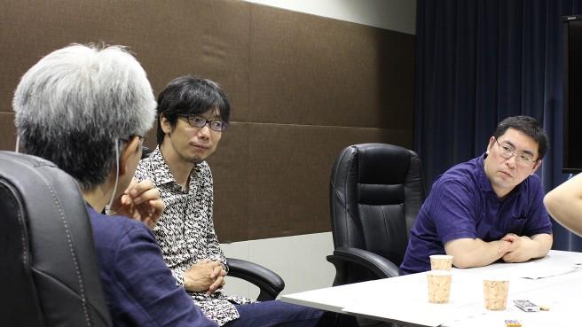 左から神部EP、イシイジロウさん、三宅陽一郎さん