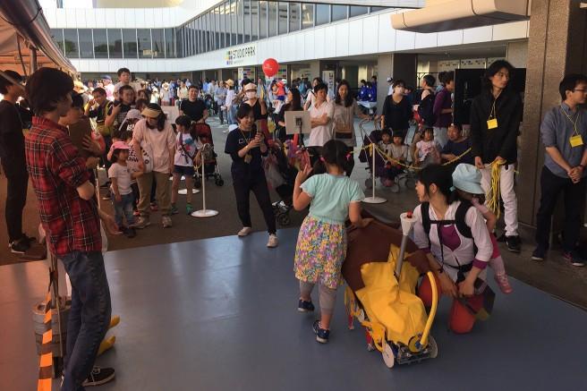 渋谷DEどーもに参加した 大分工業高等専門学校「跳べ!ライオン君!!」(2013年)