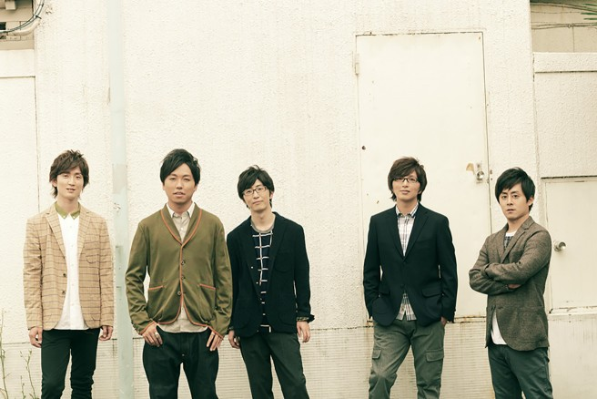RAG FAIR 左から順に、加藤慶之(Vocal)、奥村政佳(Voice Percussion)、引地洋輔(Vocal)、土屋礼央(Vocal)、荒井健一(Vocal)